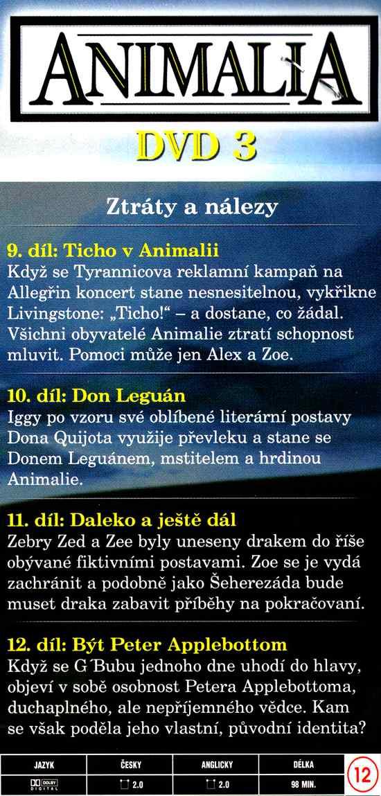 ANIMALIA dvd 3 díl 9-12