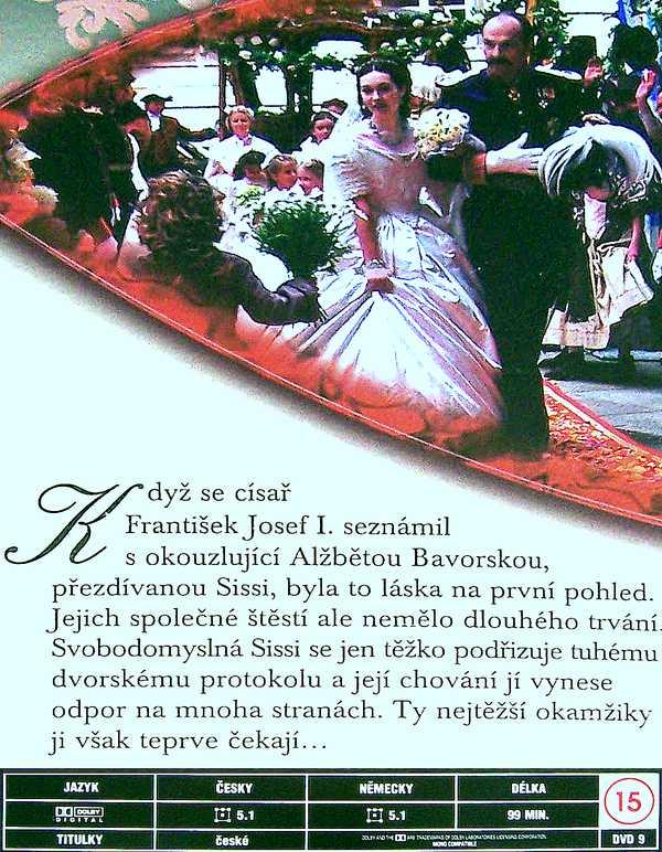 Císařovna Sissi DVD 1