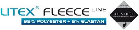 LITEX FLEECE LINE 95% Polyamid + 5% Elastan