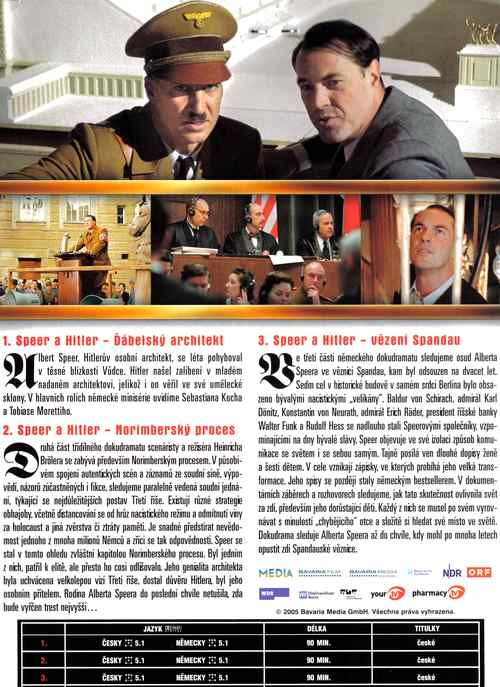 SPEER A HITLER tři dvd