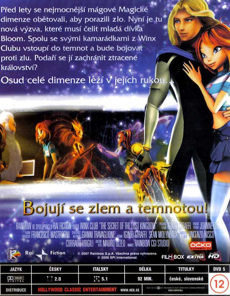 Winx CLUB Výprava do Ztraceného království DVD