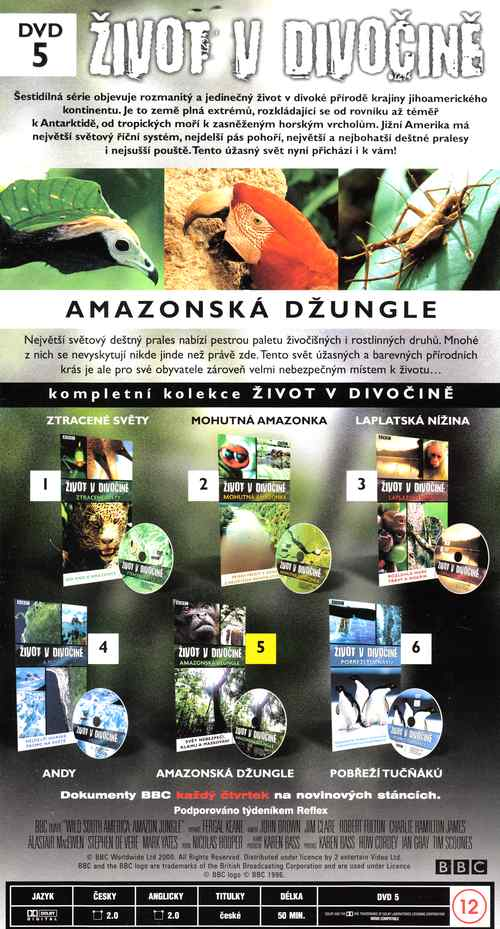 AMAZONSKÁ DŽUNGLE DVD 5