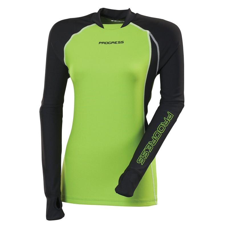 Dámské termo triko s dlouhým rukávem Progress WITCH černé   zelené ... 22743c698b